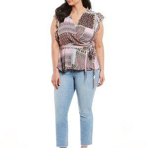Jessica Simpson Modernite Plunge Top Sizes L & S
